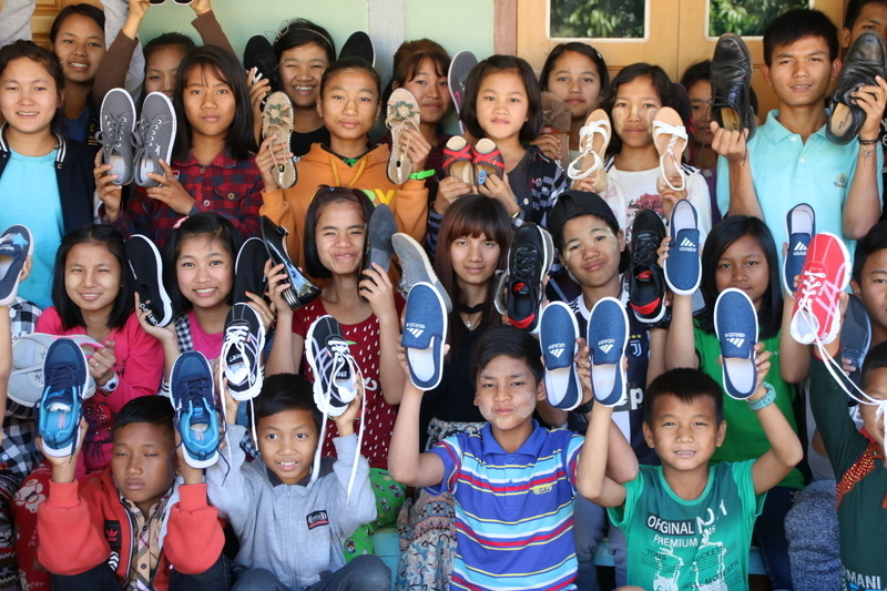 Every child received a brand new pair of shoes!