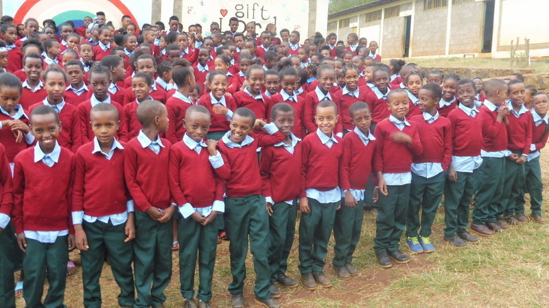 Kids receive smart uniforms