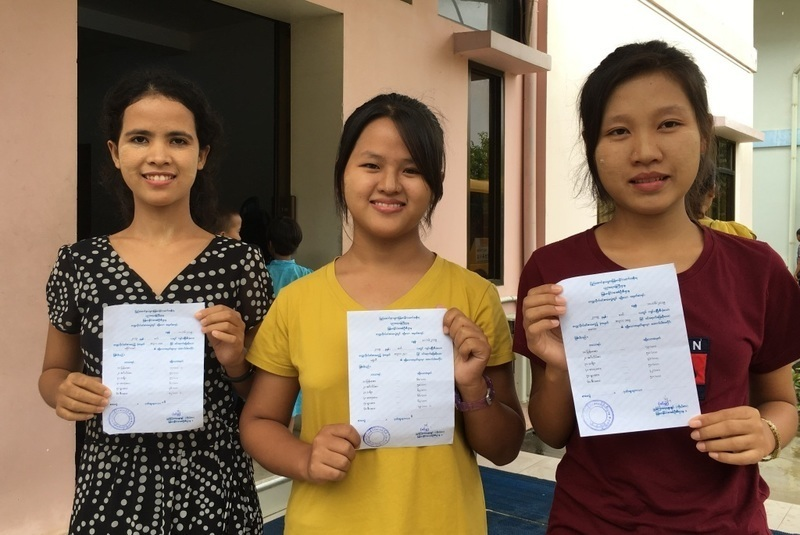 Hannah, Shally and Martha receive great results