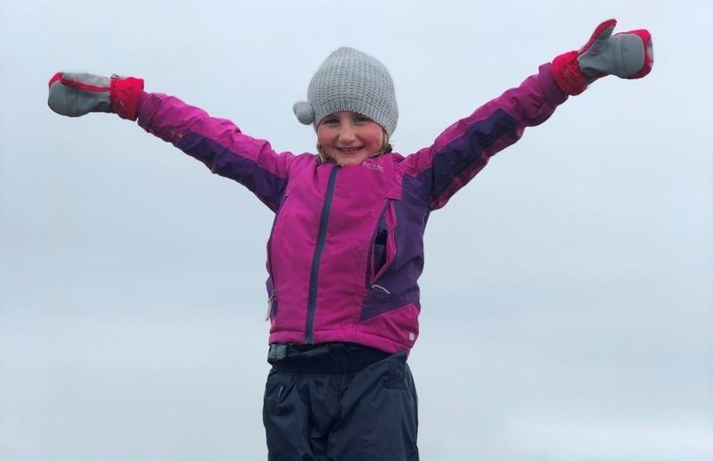 Ella climbs Ben Wyvis