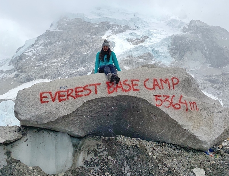 Jeeva reaches Everest Base Camp