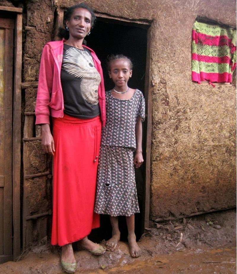 A mother and daughter live here with HIV