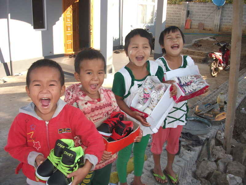 Shoes spread joy around the world